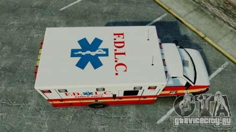 Brute FDLC Ambulance [ELS] для GTA 4 вид справа