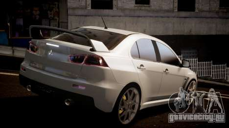 Mitsubishi Lancer Evolution X 2009 v1.3 для GTA 4 вид слева