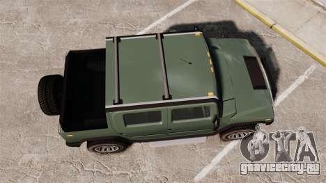 Patriot pickup для GTA 4 вид справа