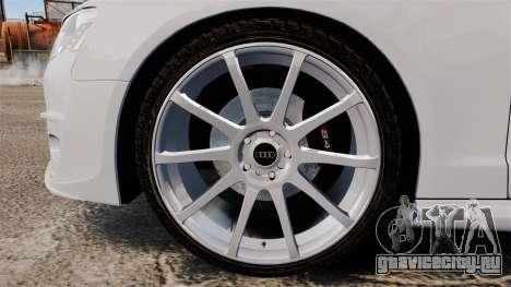 Audi S4 Unmarked Police [ELS] для GTA 4 вид сзади
