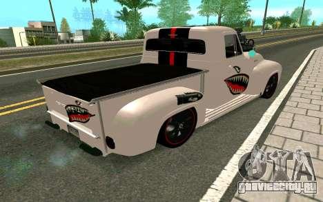 Ford FR-100 для GTA San Andreas вид сзади