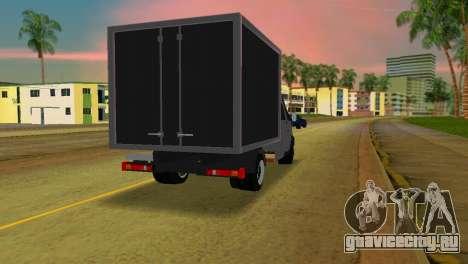 Газель 33023 для GTA Vice City вид сзади слева