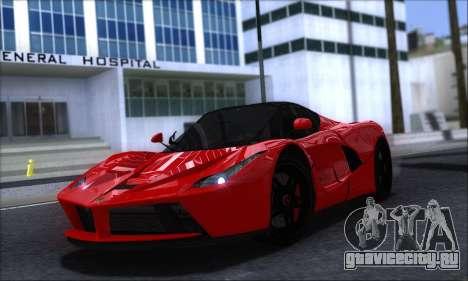 Ferrari LaFerrari v1.0 для GTA San Andreas вид слева