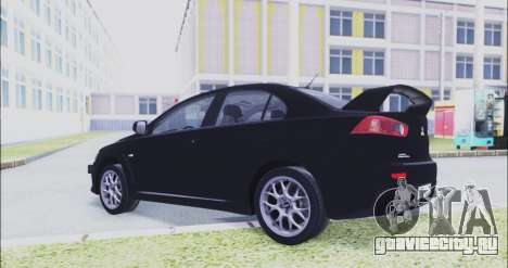 Mitsubishi Lancer Evo X для GTA San Andreas вид справа