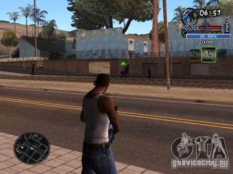 С-HUD Old Rifa для GTA San Andreas второй скриншот