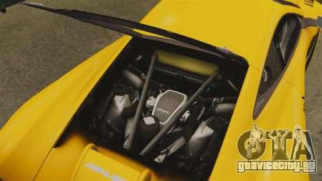 McLaren MP4-12C GT3 для GTA 4 вид сбоку