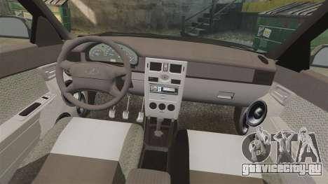 ВАЗ-2170 FBI для GTA 4 вид сверху