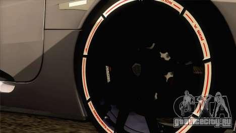 Koenigsegg CCX 2006 Autovista для GTA San Andreas вид сзади слева