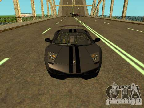 Lamborghini Murcielago LP670-4 SV Team Ravenwest для GTA San Andreas вид изнутри