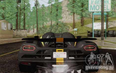 Koenigsegg Agera R для GTA San Andreas двигатель