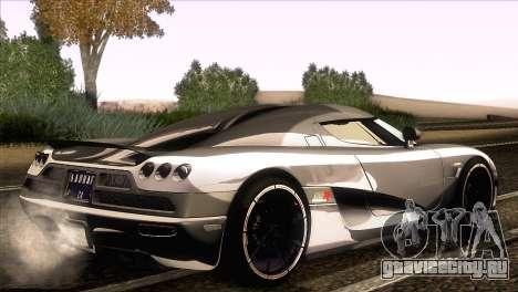 Koenigsegg CCX 2006 Autovista для GTA San Andreas вид слева
