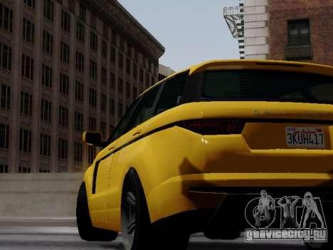 Baller 2 из GTA V для GTA San Andreas вид сзади слева