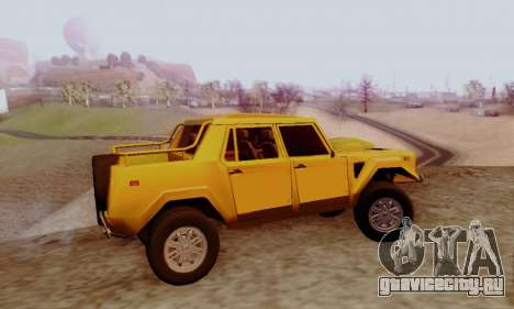 Lamborghini ML002 для GTA San Andreas вид сзади