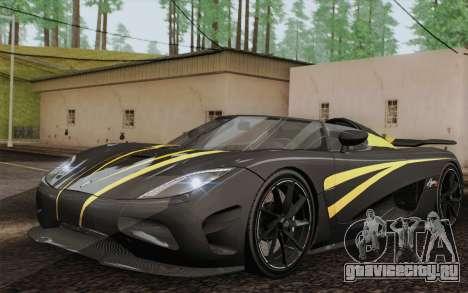 Koenigsegg Agera R для GTA San Andreas салон