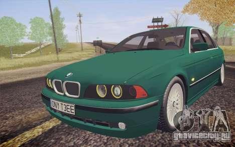 BMW M5 E39 528i Greenoxford для GTA San Andreas вид сзади