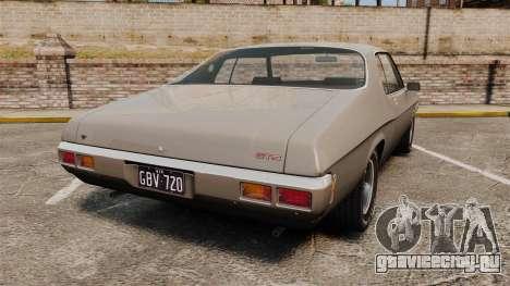 Holden Monaro GTS 1971 для GTA 4 вид сзади слева
