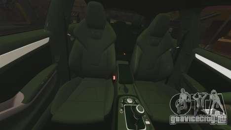 Audi S4 Unmarked Police [ELS] для GTA 4 вид сверху
