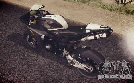 Yamaha YZF R1 2012 Black для GTA San Andreas вид сзади слева