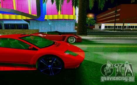 GTA V Pegassi Infernus для GTA San Andreas вид сзади