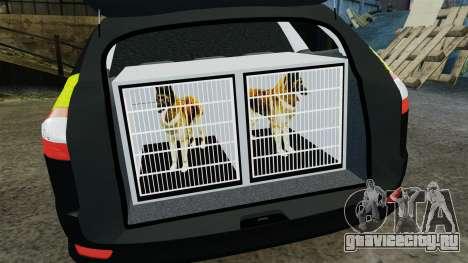 Ford Mondeo Estate Police Dog Unit [ELS] для GTA 4 вид сбоку