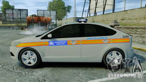 Ford Focus Metropolitan Police [ELS] для GTA 4 вид слева