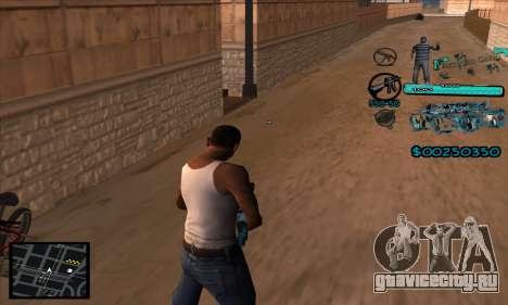 C-HUD Aztecas Gang для GTA San Andreas второй скриншот
