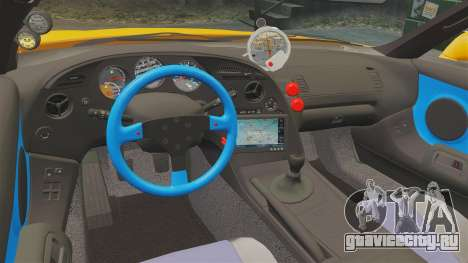 Toyota Supra RZ 1998 (Mark IV) Bomex kit для GTA 4 вид изнутри