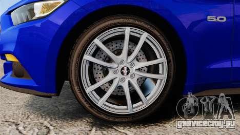 Ford Mustang GT 2015 Stock для GTA 4 вид сзади