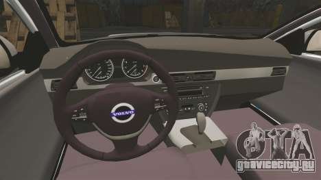 Volvo V70 South Wales Police [ELS] для GTA 4 вид изнутри