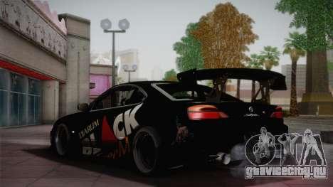 Nissan S15 Street Edition Djarum Black для GTA San Andreas вид сзади