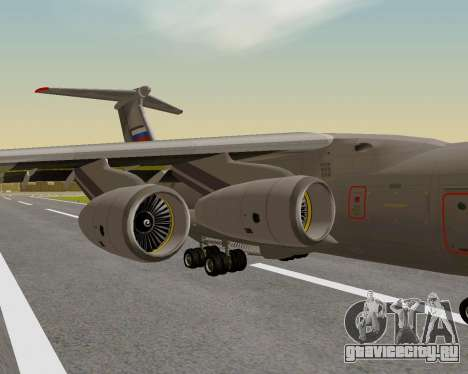 Ил-76МД-90А (Ил-476) для GTA San Andreas вид сзади