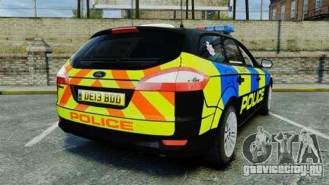 Ford Mondeo Estate Police Dog Unit [ELS] для GTA 4 вид сзади слева