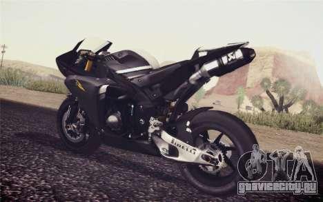 Yamaha YZF R1 2012 Black для GTA San Andreas вид слева
