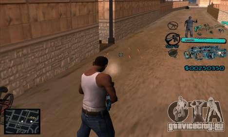 C-HUD Aztecas Gang для GTA San Andreas четвёртый скриншот