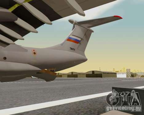 Ил-76МД-90А (Ил-476) для GTA San Andreas вид сверху