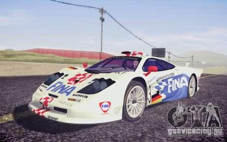 McLaren F1 GTR Longtail 22R для GTA San Andreas вид сзади