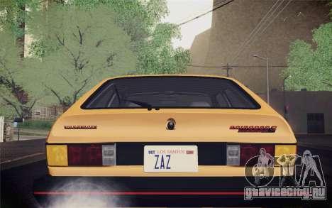 Volkswagen Scirocco S (Typ 53) 1981 IVF для GTA San Andreas вид сверху