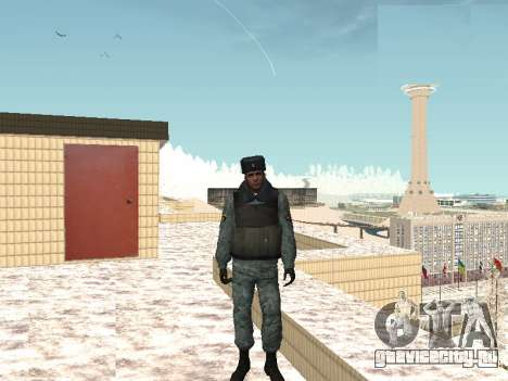 Сотрудник омона в зимней униформе для GTA San Andreas второй скриншот