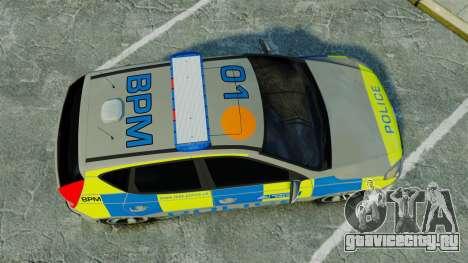 Hyundai i30 Metropolitan Police [ELS] для GTA 4 вид справа