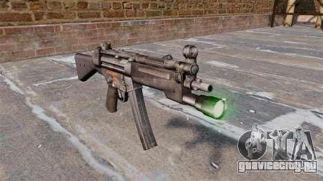 Пистолет-пулемёт HK MP5 с фонариком для GTA 4