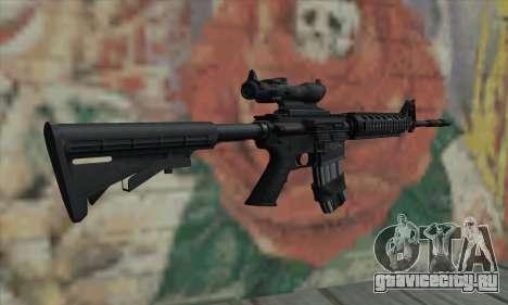 M4 RIS Acog Sight для GTA San Andreas второй скриншот