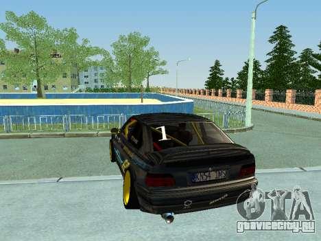 BMW M3 E36 Compact Darius Kepezinskas для GTA San Andreas вид справа