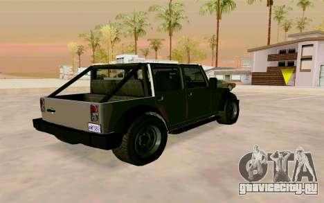GTA V Mesa для GTA San Andreas вид слева