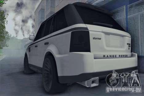 Land Rover Range Rover Sport для GTA San Andreas вид слева