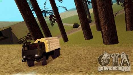 КамАЗ 4310 Бревновоз для GTA San Andreas вид сбоку