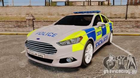 Ford Mondeo 2014 Metropolitan Police [ELS] для GTA 4