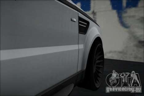 Land Rover Range Rover Sport для GTA San Andreas вид сзади слева