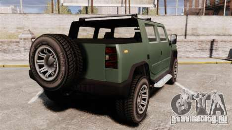 Patriot pickup для GTA 4 вид сзади слева