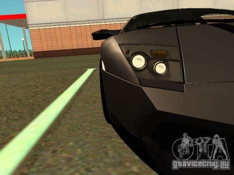Lamborghini Murcielago LP670-4 SV Team Ravenwest для GTA San Andreas вид сзади слева