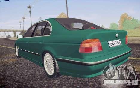 BMW M5 E39 528i Greenoxford для GTA San Andreas вид изнутри